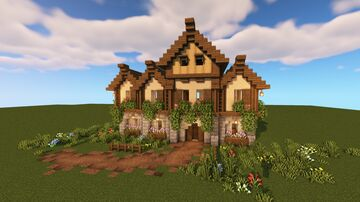 Large Medieval House/Tavern Minecraft Map & Project