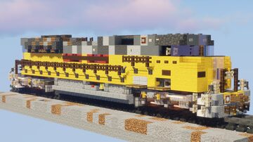 1.5:1 Ex-Union Pacific EMD SD90MAC Minecraft Map & Project