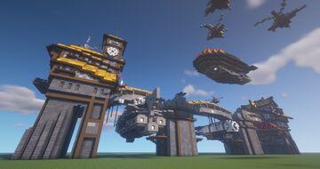 Steampunk Airdocks Minecraft Map & Project