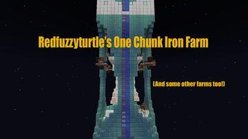 One Chunk Iron Farm Minecraft Map & Project