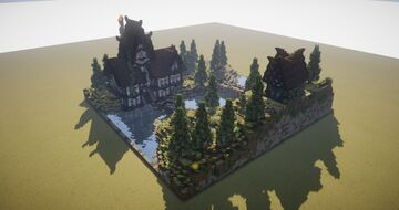 Medieval House and Landscape Diorama Minecraft Map & Project