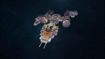 Star Wars - BTL Y-Wing Fighter Minecraft Map & Project