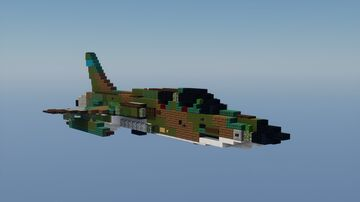 F-105G Thunderchief Minecraft Map & Project