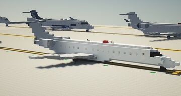 Embraer E145 1.5:1 Scale Minecraft Map & Project