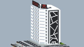 Japanese Modern Office Building Minecraft Map & Project