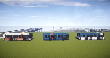 1.5:1 Scale, New Flyer and Gillig BRT Trimet Buses Minecraft Map & Project