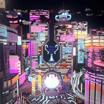 Neon City Spawn Minecraft Map & Project