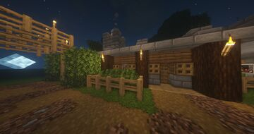 Logger's house and Logging workshop Minecraft Map & Project