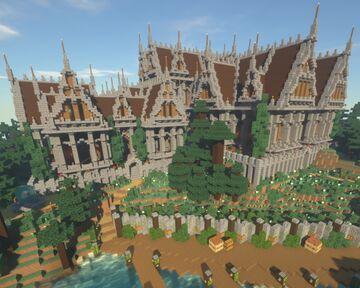Colline Manoir victorian palace Minecraft Map & Project