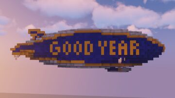 Good Year Blimp [SCHEMATIC] Minecraft Map & Project
