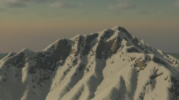 Snowy mountains, made via Heightmaps and FAWE Minecraft Map & Project