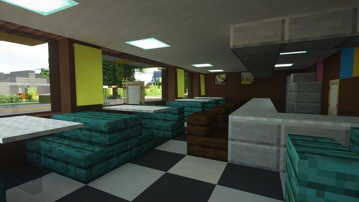Brick Building Diner Interior