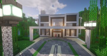 Modern large house Minecraft Map & Project