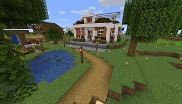 Animal Crossing: Wide World Town Hall Minecraft Map & Project