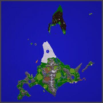Pokémon Platinum - Realistic Sinnoh Region Terrain (6000x6000) Minecraft Map & Project