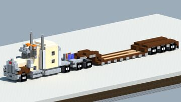 Peterbilt 379 with lowboy trailer [With Download] Minecraft Map & Project