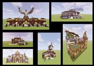 Juxtaposition: A Life in Six Builds Minecraft Map & Project