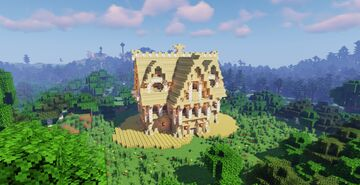 A Big Birch Survival House For Pro Builders Minecraft Map & Project