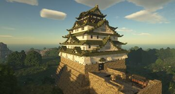 Osaka Castle Main Tower 1:1 Minecraft Map & Project