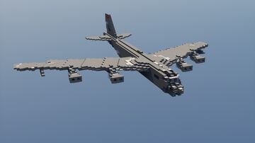 B-52H Stratofortress - 1.5:1 Minecraft Map & Project