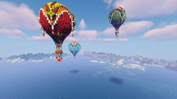 Hot Air Balloons Minecraft Map & Project