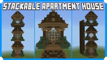 How To Build A Stackable Apartment House Minecraft Map & Project