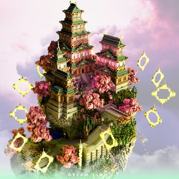 Floating Island Japanese Themed Minecraft Map & Project