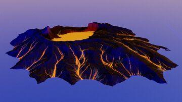 Custom Volcano Generator (World Machine Macro) + Free Example Download Minecraft Map & Project