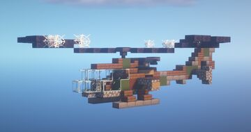 Gazelle Attack Helicopter Minecraft Map & Project