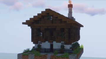 Traditional Austrian/Bavarian House Minecraft Map & Project