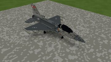 F-16C Nellis Air Force Base (4-1 Scale) Minecraft Map & Project