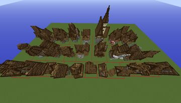 Medieval houses | Pack - 11 Minecraft Map & Project