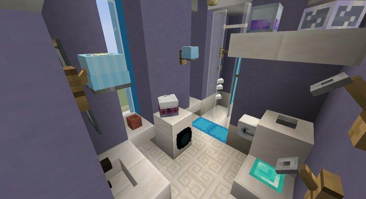 bathtub and washing machine