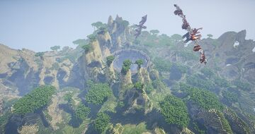 Volcano and Hobbit Minecraft Map & Project