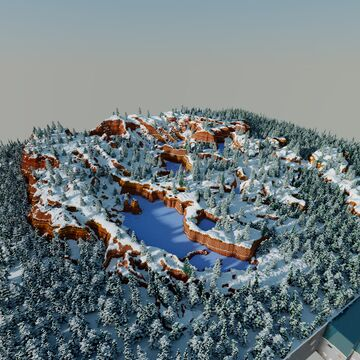 snowy mesa Minecraft Map & Project