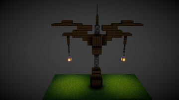 Medieval street lamp Litematic/Schematic Minecraft Map & Project