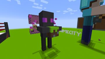 Baby Enderman Statue Block Game City V1 Minecraft Map & Project