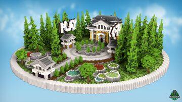 ⭐ EXCLUSIVE ⭐ Garden House - AliensBuilds 🏡 Minecraft Map & Project