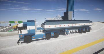 1.5:1 Scale European Scania Blue Truck & Tanker Trailer Minecraft Map & Project