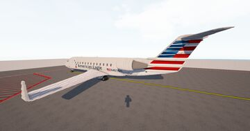 American Eagle Bombardier CRJ-200 [LittleTiles] Minecraft Map & Project