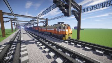 Taiwan railway freight train Minecraft Map & Project