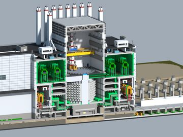 RBMK-1000 of the first generation (1 and 2 CHPP power units) Minecraft Map & Project