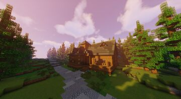 Sword Art Online - Floor 22 Log Cabin / Kirito&Asunas House Minecraft Map & Project