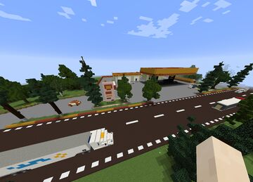 Shell Gas Station Full Realistic Minecraft Map & Project