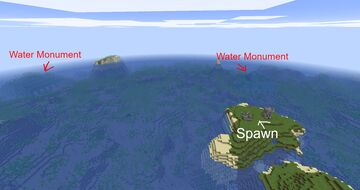 2x Ocean Monument Seed + Ocean Ruin at surface Minecraft Map & Project
