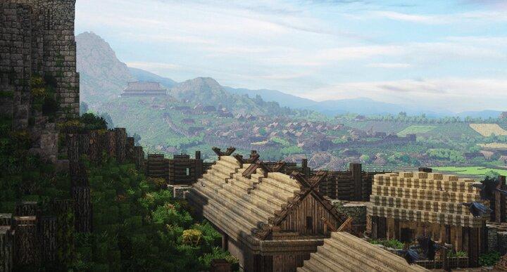 Edoras seen from Aldburg