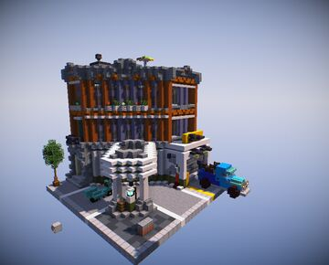 "LEGO Modular ""Corner Garage"" Recreation Minecraft Map & Project"