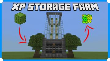 How To Build An Automatic XP Storage Farm Minecraft Map & Project