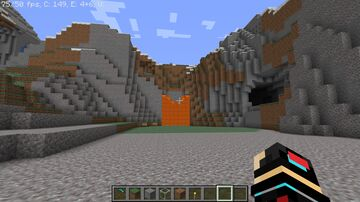 Natural Mountain Lava Entrance Minecraft Map & Project
