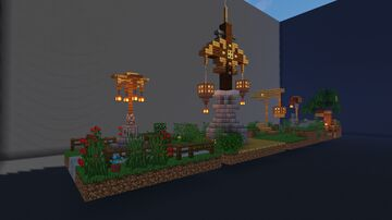 Streetlamp Designs | DOWNLOAD SCHEMATIC here! Minecraft Map & Project
